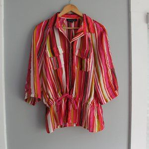 Jones New York Colorful Striped Button Down